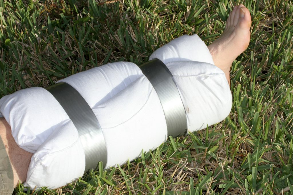duct tape splint