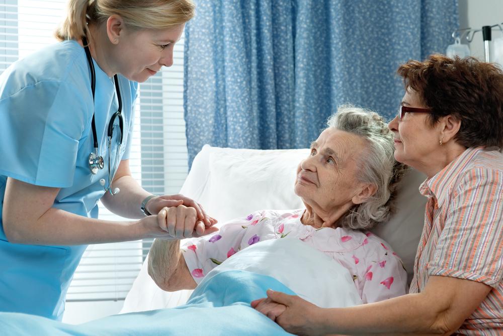 NUrse caring for sick patient