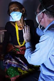 doctor and patient with masks