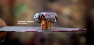 mushroom bullet deformation