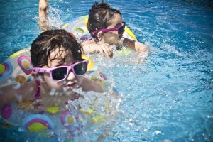 swimming pool with kids