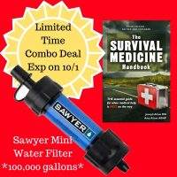 The best price for a Mini Sawyer Water Filter and The Survival Medicine Handbook