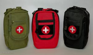 three compact first aid kits great for hiking and camping made by Amy Alton of store.doomandbloom.net