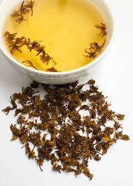 use dried herbs in hot water to make a delicious tea