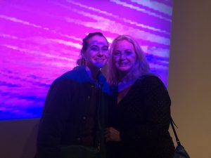 Amy and her daughter in a NYC museum.