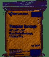 packaged triangular bandage
