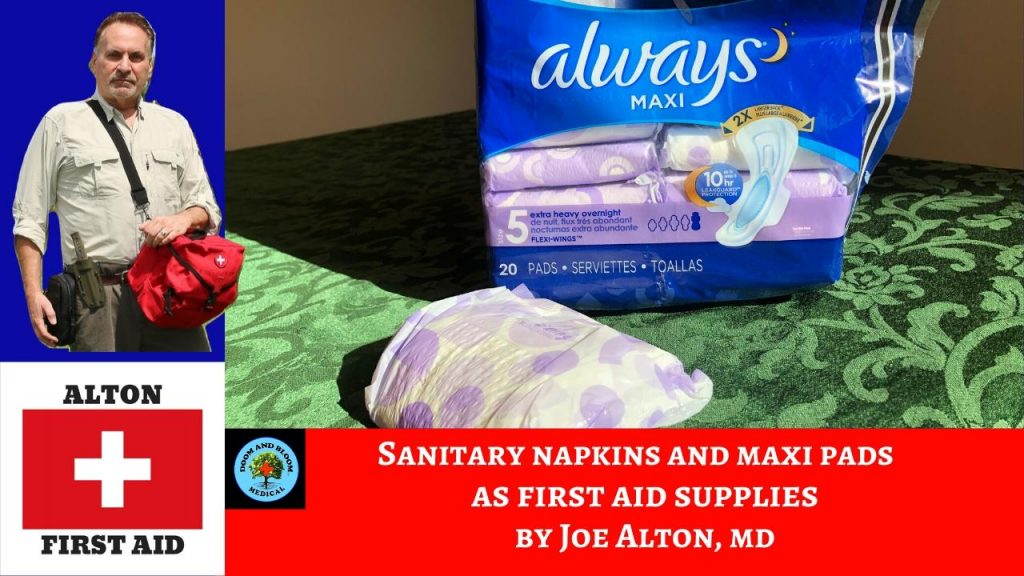 Video: &quote;Maxi-Pads&quote; As Survival Bandage?